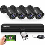 SANSCO Smart HD CCTV Security Camera System with 1080P 4 Channel DVR (4) 2.0MP Indoor Outdoor Bullet Cameras and 1TB Hard Drive (1920x1080 1080p