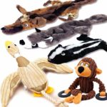 LOBEVE 5 Pack Dog Squeaky Toys Three No Stuffing Toy and Two Plush with Stuffing for Small Medium Dog Pets: Amazon.co.uk: Pet Supplies