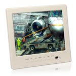 "BW 8"" inch LCD Color CCTV Monitor with VGA BNC AV Port and Speaker 1024 * 768 Resolution-White"
