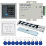 KKmoon Door Entry Access Control System Kit Password Host Controller + 280KG/617lb Electric Magnetic Lock + Door Switch + DC12V Power Supply + 10pcs 125KHz RFID Cards