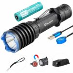 Olight Warrior X Pro Tactical Flashlight 2100 Lumens / 500 Meters Neutral White LED Magnetic Chargeable Powerful Torch for Hunting Search and Rescue
